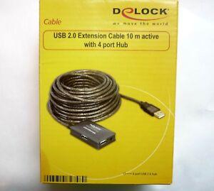 Câble USB Extension 10m Actif 4Port Rallonge Répétiteur DeLock 82748