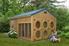 Amish Built dog kennel