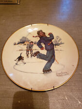 New listing 1974 Norman Rockwell Limited Edition Gorham Winter - Gay Blades Plate,10 3/4