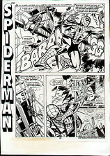 SPIDERMAN ORIGINAL PASTEUP PAGE PRODUCTION ART (MODIFIED FROM ASM #196 IN 1979)