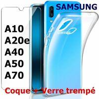 Verre Trempé Pour Samsung A10 A20 A40 A50 A70 A80 + Coque Etui Ultra Mince