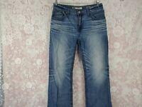 BKE Denim Jeans Mens Size 33R Derek Thick Stitch Bootcut