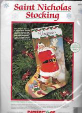 "Crewel Stitchery Dimensions  Christmas STOCKING KIT,SAINT NICHOLAS,8077,16"""