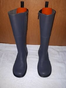 Dr Martins Ladies Boots Grey High Knee In Excellent Condition Size 7 U.K....