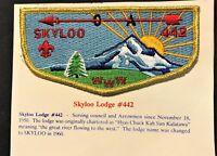 MERGED OA LODGE SKYLOO 442 BSA COLUMBIA PACIFIC COUNCIL WA GMY LAST DEATH FLAP
