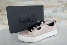 Karl Lagerfeld 37 Us6 SNEAKERS Loafers Lace up Shoes Pink Previously