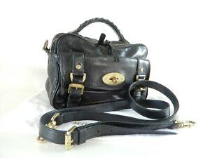Mulberry Alexa Postmans Lock Camera Bag in Black Leather