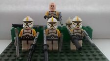 STAR CLONE WARS COMMANDER Clone Troopers 4 MINI FIGURE libero LEGO FUCILI UK STOCK