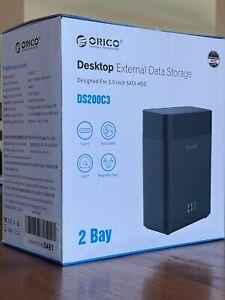 ORICO 2 Bay 3.5 inch Desktop Hard Drive Enclosure with USB-C (USB 3.1)