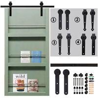 4FT-20FT Sliding Barn Door Hardware Closet Track Kit for Single/Double Door