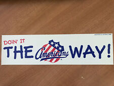 Rochester Americans Bumper Sticker 1980's