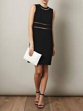 Alexander Wang Black Fish Wire Detail Dress   (Size 8)