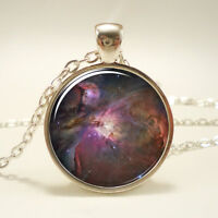 Orion Nebula Necklace, Galaxy Jewelry, Universe Pendant (1158S1IN)