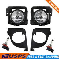 2X For Acura TSX Clear Fog Lights Bumper Driving Lamps w/ Lights 2009-2010