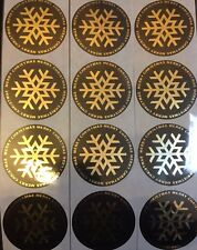 36 x MERRY CHRISTMAS Snowflake Gift Seal Christmas Present Stickers