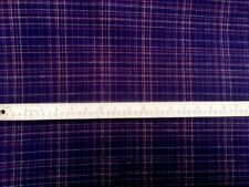 "100% Lightweight Cotton Flannel Fabric Plum w/Gold Lines 43"" WIDTH By The Yard"