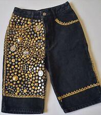 Girls' Women GUESS Studded Embellished shorts Size 12 Black FREE