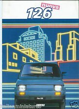 FIAT 126 NUOVA 1985 lingua ITALIANO BROCHURE PROSPEKT CATALOGO ECCELLENTE