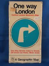 Vintage Geographia One Way London Central London's Motorists Map