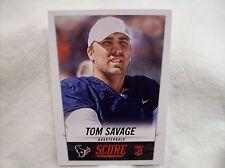 2014 Score Football #385 Tom Savage Rookie card - Texans