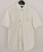 Men Gant Casual Shirt Long Beach Poplin Short Sleeves Cotton M VCA961