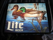 Miller Lite Beer Sign Light Mallard Duck In Water Swimming Bar Pub Rec Room L@K
