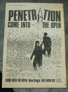 PENETRATION COME INTO THE OPEN 1979 FULL PAGE PRESS ADVERT POSTER SIZE  37/26CM
