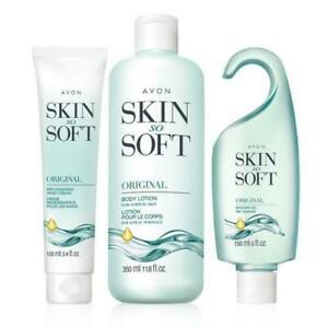 AVON Skin So Soft Original Set. Body Cream, Shower gel, and Hand Cream.