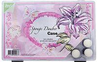 Dauber-Box + 3 Finger-Tupfer Schwämmchen Sponge dauber case JoyCrafts 6200/0220