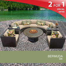 Bermuda 8 Piece Outdoor Wicker Patio Furniture Set 08i