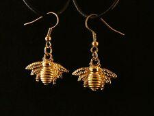Biene Ohrringe 24 Karat Vergoldet Honig Imme Honey Bee Imker Insekt Gold Hänger