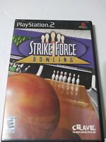 Strike Force Bowling (Sony PlayStation 2, 2004) PS2 Complete With Manual