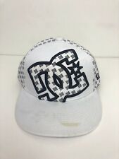DC Shoes New Era White/Black Baseball Cap Fitted Size 7 3/8
