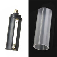 1PC 18650 Battery Tube+ 1PCS AAA Battery Holder for Flashlight Torch Lamp