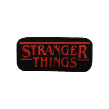 STRANGER THINGS Film Logo Iron on and Sew On Embroidered Appliqué Felt Patch
