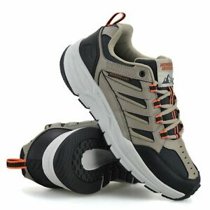 Mens Skechers Walking Hiking Trail Work Leather Memory Foam Trainers Shoes Size