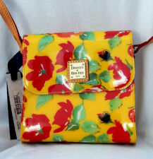 Dooney & Bourke Floral Vinyl Crossbody Bag in Yellow, RE345 YL, New with Tags