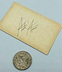 Vintage Andre Agassi Original Hand Signed Autograph on Index Card TENNIS Excel!