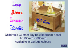 Children's Toy box /Bedroom personalised name decal/sticker Kid's playroom