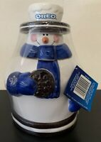 VTG OREO Cookies Snowman Cookie Jar Houston Harvest 2nd in Series Nabisco NEW