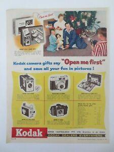 Vintage Australian advertising 1959 ad KODAK PRODUCTS camera film accessories