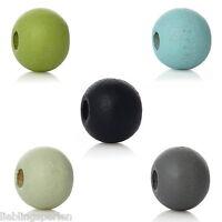1000 Holzperlen zum Fädeln Speichelfest Mix Farben 6mm