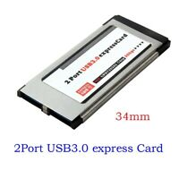 PCI-E PCI Express To 2 Port USB 3.0 34 mm Expresscard Card Converter Adapter