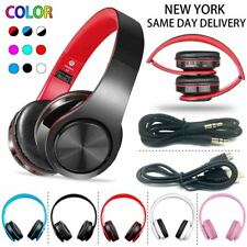 Wireless Headphones Bluetooth Headset Over Ear Stereo Earphone Noise Cancelling
