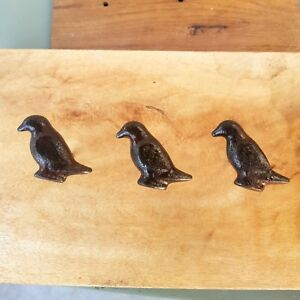 10x Antique Style Cast Iron Rustic Brown BIRD Figure Door Knob / Pull /Handle#40