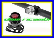 Kit 2 Fanalini led WAG Bici MTB BDC Bicicletta luce faro anteriore posteriore