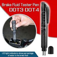 Black Brake Fluid Tester 5 LED Auto Car Diagnostic Brakes Testing Pen DOT3 DOT4