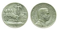 pcc1414_1) Italia Vittorio Emanuele III (1900-1943) lire 1 Quadriga Veloce 1909