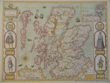 OLD COPY OF JOHN SPEED MAP OF THE KINGDOME OF SCOTLAND ISLES OF ORKNAY HEBRIDES