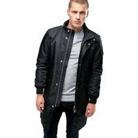 DIESEL W SELFRIGE Mens Long Parka Jacket Padded Quilted Puffer Winter Black Coat